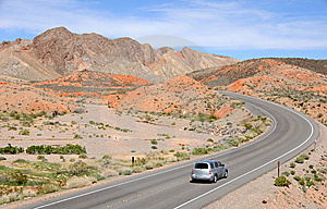 Driving Through Lake Mead National Recreation Area Royalty Free Stock Photo - Image: 13896525