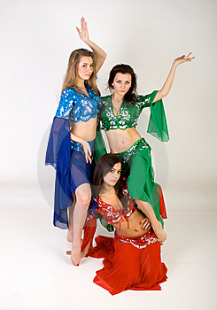 Three Girls Belly Dancing Royalty Free Stock Photos - Image: 13897808