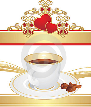 Cup With Coffee And Candies Royalty Free Stock Images - Image: 13898469