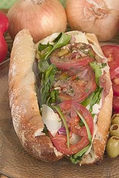 Big Hero Sandwich on Crusty Bread