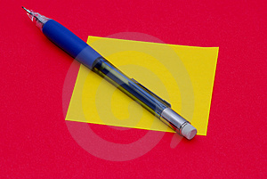 Pencil And Note Stock Images - Image: 1390774