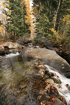 Creek In Fall With Aspens #6 Royalty Free Stock Photo - Image: 1391795