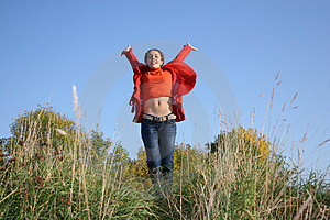 Jump Girl Royalty Free Stock Photography - Image: 1391947