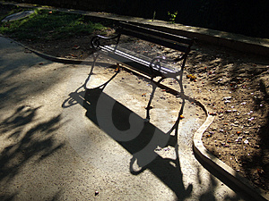 Backlight Bench Royalty Free Stock Photo - Image: 1393115