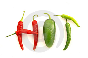 'HOT' Peppers Royalty Free Stock Photography