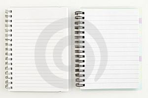 Two Notebook Royalty Free Stock Photo - Image: 13900345