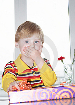The Boy With A Gift Stock Photography - Image: 13901812