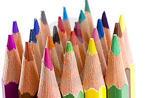 Brunch Of Colored Crayons Royalty Free Stock Photos - Image: 13904258