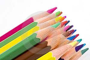 Brunch Of Colored Crayons Royalty Free Stock Images - Image: 13904259