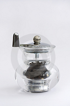 Glass Pepper Grinder Royalty Free Stock Photos - Image: 13904348