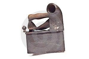 OLd Iron On White Royalty Free Stock Photo - Image: 13906965