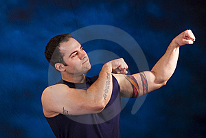 Muscular Hispanic Man Stock Photography - Image: 13907382