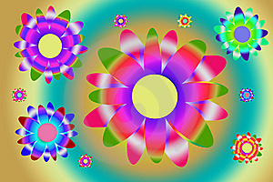 Colorful Flowers (with Clipping Path) Stock Photography - Image: 13908612