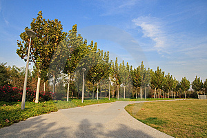 Hoek In Olympisch Park, Peking Stock Foto - Afbeelding: 13910510