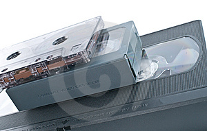 Compact Videocassette, VHS And Audio Cassette Stock Photography - Image: 13914502