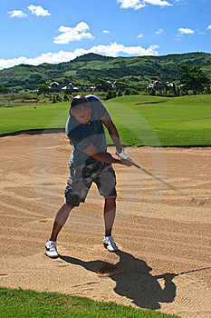 Out Of The Sand Trap Stock Photography - Image: 13916492