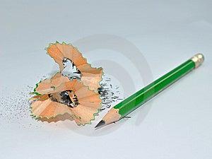 Pencil Shreds Stock Photos - Image: 13919113