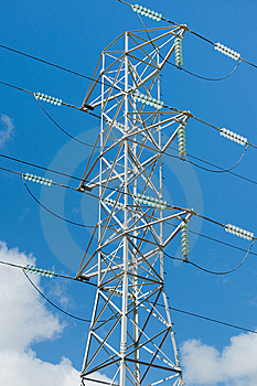 Electricity Tower Royalty Free Stock Images - Image: 13919989