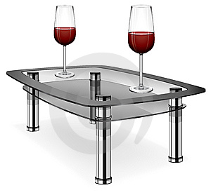 Wine Glasses On Table Royalty Free Stock Image - Image: 13920886