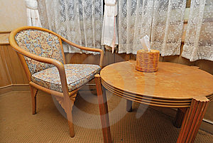 Tea Table And Chair In Hotel Room Royalty Free Stock Photo - Image: 13921385
