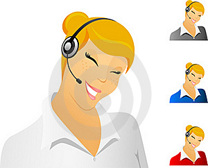 Smiling Call Center Representative Stock Image - Image: 13923041