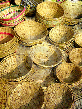 Cane Baskets Stock Photo - Image: 13923600