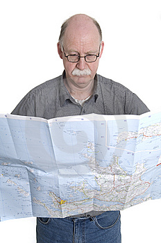 Men With Map Stock Image - Image: 13924121
