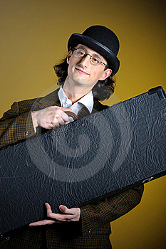 Young English Retro Gentleman With Luggage Royalty Free Stock Photography - Image: 13924177