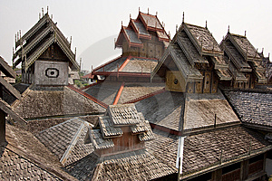 Wooden Roof Royalty Free Stock Photos - Image: 13926058