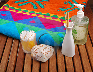 Spa Concept Of Brown Color Royalty Free Stock Photography - Image: 13926457