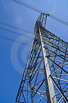 Electric Pillar And Danger Sign Stock Photos - Image: 13927673