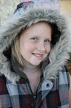 Kid Keeping Warm Royalty Free Stock Photography - Image: 13929807