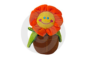 Smiling Sunflower In The Pot Stock Photography - Image: 13930602