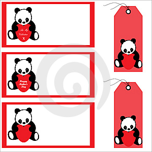 Panda Bear Banners And Labels Royalty Free Stock Photo - Image: 13930825