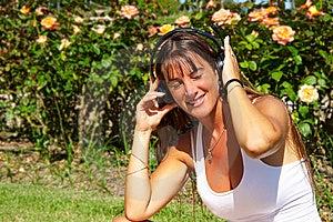 Listening Music Stock Photos - Image: 13934453