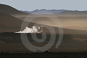 Altiplano And Geyser In South-western Bolivian And Stock Photos - Image: 13934463