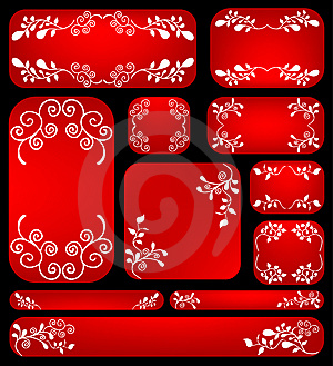 Floral Banner Set Royalty Free Stock Photo - Image: 13938385