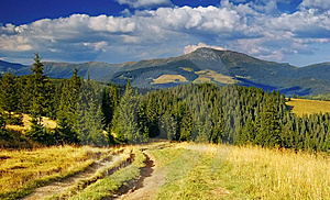 Summer Landscape In Mountains A Sunny Day Stock Images - Image: 13939514