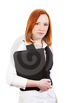 Girl With Folder Royalty Free Stock Image - Image: 13940946
