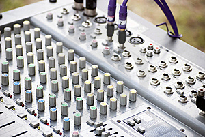 Sound System Console Stock Photo - Image: 13941250