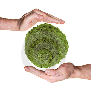 Hands Protecting Green Planet Royalty Free Stock Photos - Image: 13941918