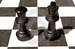 Big Outdoor Chess Board. Royalty Free Stock Photos - Image: 13941958