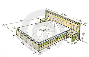 Modern Interior Design Freehand Drawing. Royalty Free Stock Images - Image: 13942319
