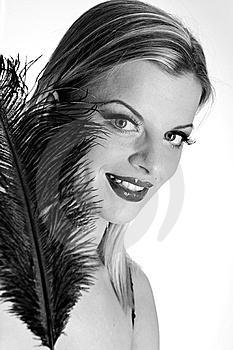 B/w Portrait Of Sexy Fashion Woman Stock Images - Image: 13942894