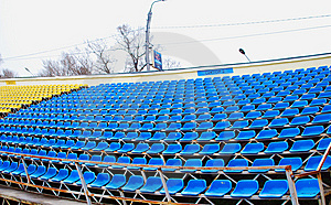 Empty Soccer Stands Stock Image - Image: 13943581