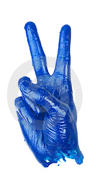 Victory Hand Sign Royalty Free Stock Images - Image: 13943789