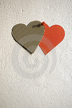 Paper Hearts Royalty Free Stock Photography - Image: 13945437