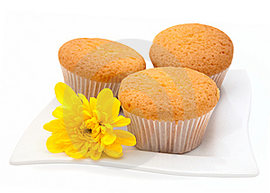 Gentle Vanilla Cakes Stock Photos - Image: 13947903