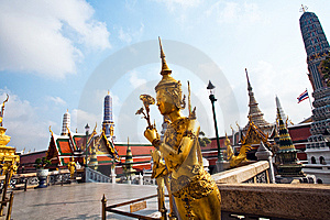 Kinaree, A Mythology Figure In The Grand Palace Royalty Free Stock Photo - Image: 13951305