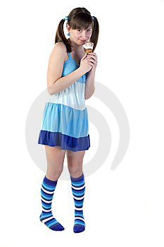 Teenager With Ice Cream Royalty Free Stock Photography - Image: 13952407